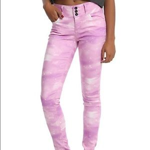 Hot Topic Blackheart Pink Galaxy Skinny Jeans, 15